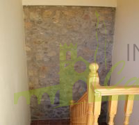 STAIRS WITH STONE WALL
